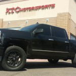 George brought in his 2015 Chevy Trucks Silverado 1500 4WD Z71 for a major upgrade to his suspension. We put FOX 2.5 Factory Series Coil-Overs with Reservoir & DSC Adjuster on the front of his ride. We had previously done a Cognito Motorsports, Inc leveling kit with upper control arms & Bilstein Shock Absorbers front struts. With 305/55R20 Toyo Tires Open Country ATII tires wrapped around some 20x9 Fuel Offroad Savage wheels. BedRug BedLiner, Bak Industries G2 Tonneau Cover, & AMP Research powersteps.