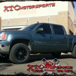 Chris brought in his 2008 GMC Sierra 1500 4WD for some Bilstein Shock Absorbers front 5100 series leveling struts & rear 5100 series shocks, 285/65R18 BFGoodrich Tires KO2 tires on some XD wheels XD800 18X9 Misfit wheels.