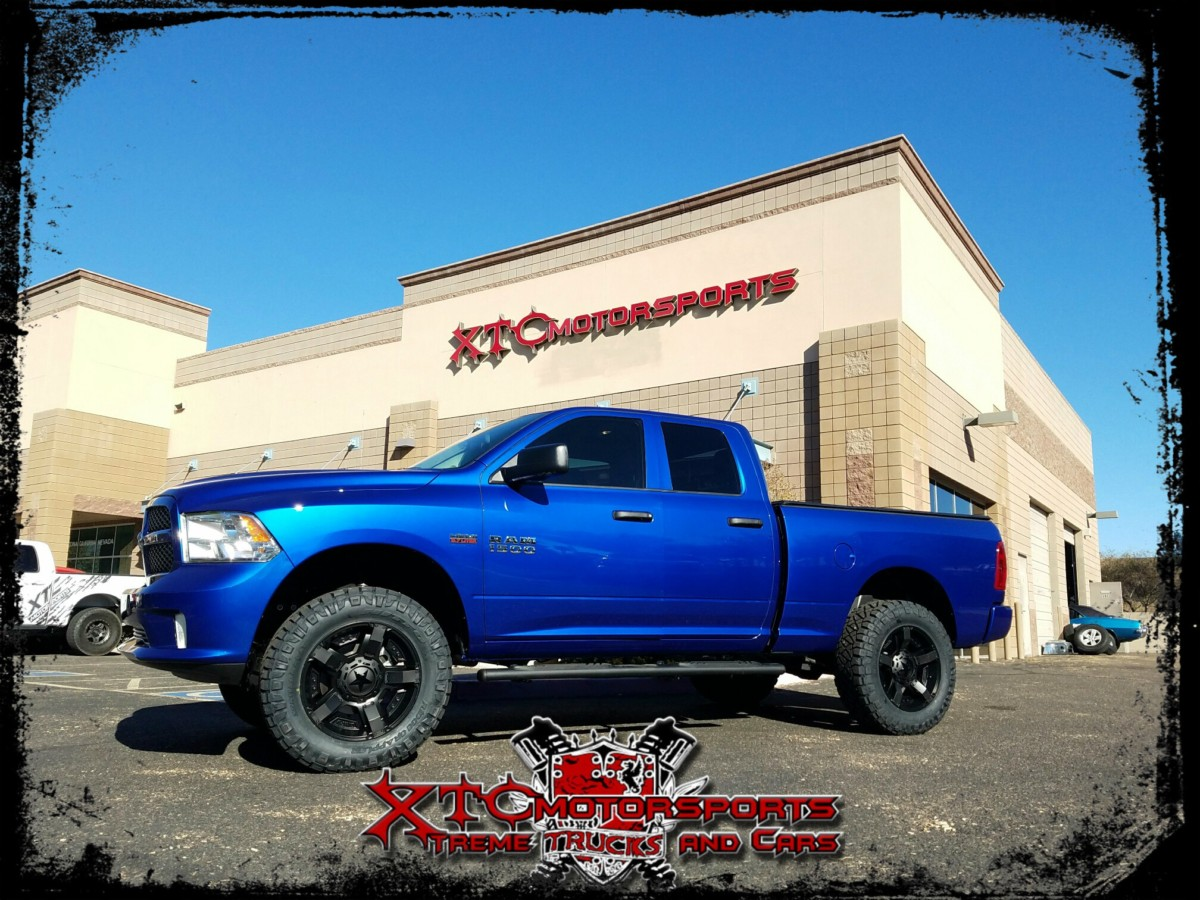 "Dave brought in his 2016 Ram Trucks 1500 for a 4"" BDS Suspension lift kit with FOX 2.0 Performance Series shocks in the rear, & some Nitto Tire 35x12.50R20 Ridge Grappler tires wrapped around some 20x9 XD wheels XD811 Rockstar 2 wheels."