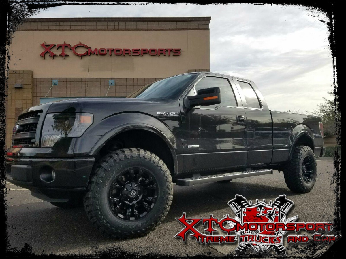"Matt brought in his 2014 Ford Motor Company F150 FX2 for a ReadyLift Suspension Inc. 3.5"" SST lift kit, 285/75R18 TOYO TIRES Open Country M/T's wrapped around some 18x9 Fuel Offroad D560 Black Vapor wheels."