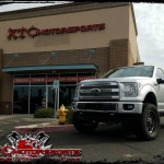 Troy dropped his 2016 Ford Motor Company F150 Platinum for a ReadyLift Suspension Inc. 7