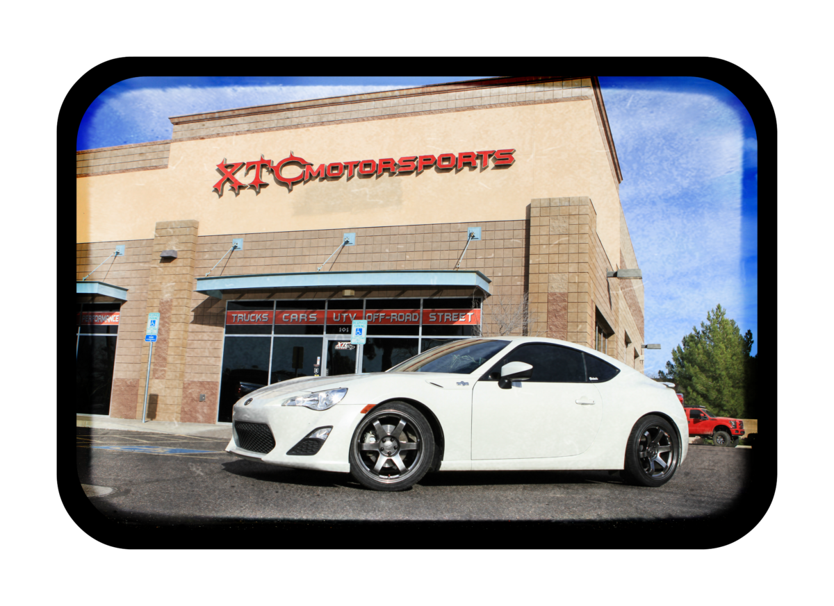 """Gary brought in his 2015 Scion FR-S for Eibach 1.4"""" Sportline lowering springs and rear alignment kits."""