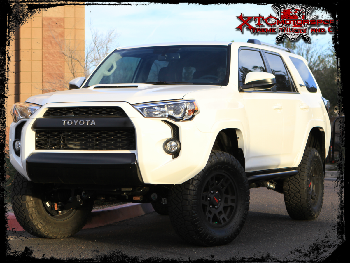Thomas's 2017 Toyota USA 4Runner received an ICON Vehicle Dynamics Stage 7 suspension system and some Nitto Tire Ridge Grapplers on the factory TRD wheels.