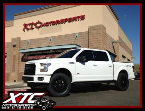 "Aaron dropped off his 2016 Ford Motor Company F150 for a ReadyLift Suspension Inc. 2.5"" leveling kit, Fuel Offroad D575 Gloss black Coupler wheels wrapped with 35x11.50R20 Nitto Tire Ridge Grapplers, & a Hypertech Max Energy programmer."