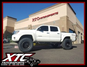 "Garrett brought in his 2014 Toyota USA Tacoma for a BDS Suspension 6"" lift, a set of 18"" Method Race Wheels Black Double Standards wrapped with a set of 35x12.50R18 Toyo Tires Open Country M/T, and set of N-FAB nerf bars."