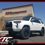 Our buddy John over at Handcrafted Car Audio brought in his 2016 Toyota USA 4Runner for an ICON Vehicle Dynamics suspension system including extended travel front coil-overs with tubular upper control arms, 2