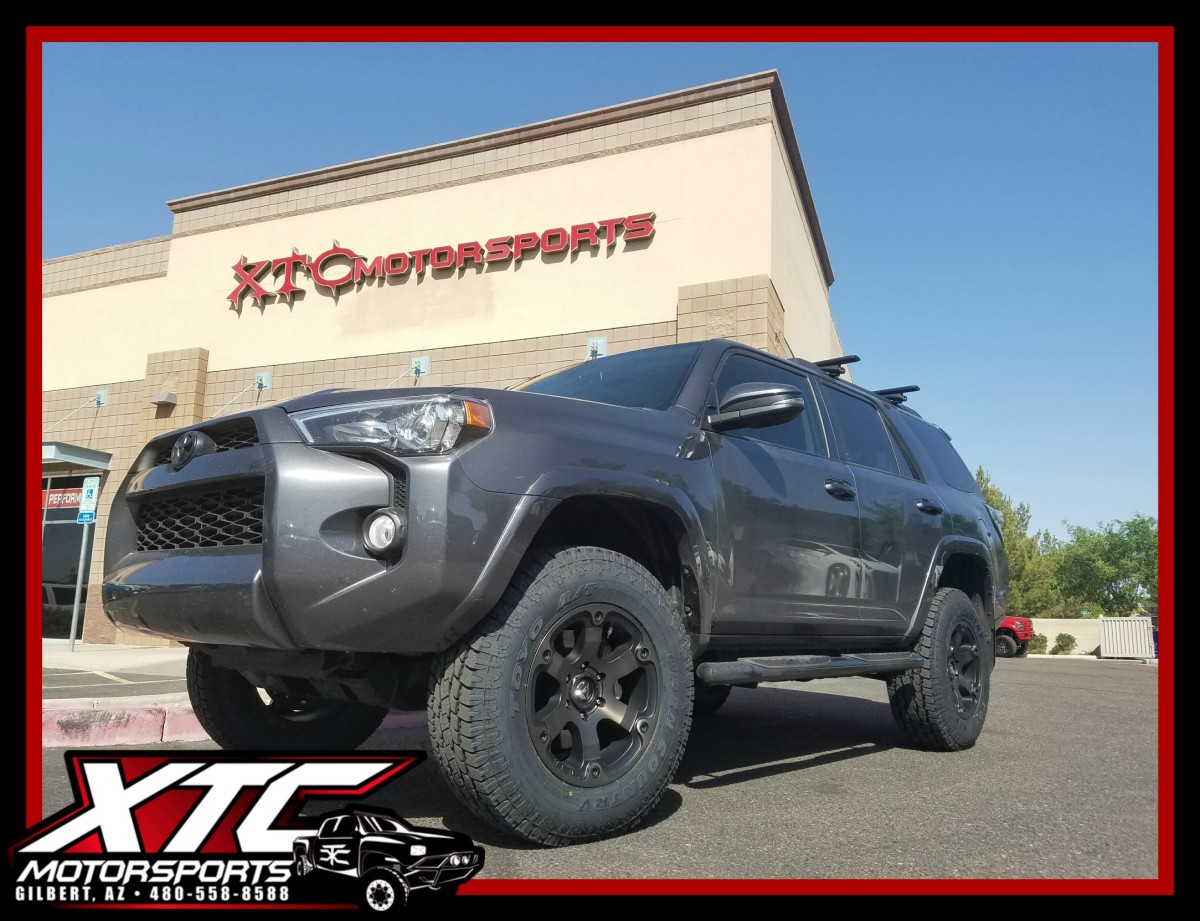 "4 Runner >> Ty dropped off his 2016 Toyota USA 4Runner for a ReadyLift 3""/2"" SST suspension lift, a set 275 ..."
