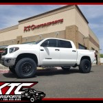 Ali dropped off his 2017 Toyota USA Tundra for a set of Zone Offroad Products upper control arms with Fox Racing 2.5