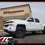 Matt brought in his 2016 Chevrolet Silverado 1500 for a set of Fox Racing 2.0 Series Adjustable coil overs and rear 2.0 series shocks. Fuel Offroad Toyo Tires