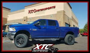 "Jason brought his 2016 Ram 2500 in for a Daystar Products International 2"" leveling kit with front Bilstein Shock Absorbers 5100 series front shocks with a set of 35x12.50R20 Nitto Tire Ridge Grapplers on a set of 20x9 XD828 Delta dark tint XD wheels."