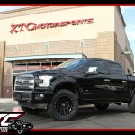 We installed an ICON Vehicle Dynamics Stage 1 suspension system, 35x11.50R20 Nitto Tire Ridge Grapplers wrapped around a set of XD wheels XD818 20x9 Black Heist wheels on Ryan's 2016 Ford Motor Company F150