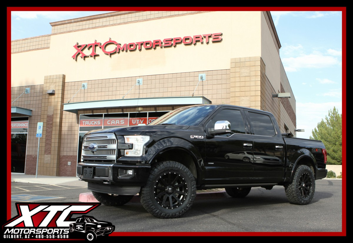 Black Ford F150 >> We installed an ICON Vehicle Dynamics Stage 1 suspension system, 35x11.50R20 Nitto Tire Ridge ...