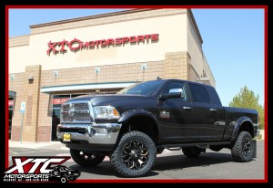 "We just built this 2017 Ram Trucks 2500 Mega Cab for Hugo. We installed a BDS Suspension 4"" lift with FOX 2.0 Shox, 35x12.50R20 Toyo Tires open Country M/T's wrapped around a set of Fuel Offroad 20x9 Black & Milled Assault wheels. We also installed a set of paint matched Bushwacker Pocket Style fender flares, XTC Motorsports custom mud flap kit, & a set of N-FAB wheel to wheel side steps."
