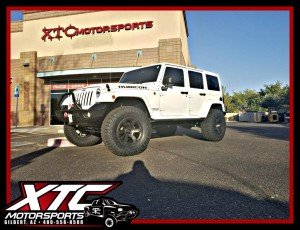 "We just finished up this 2015 Jeep Wrangler Rubicon Unlimited for Joe. We installed a BDS Suspension 3"" lift with FOX 2.0 Performance Series shox and steering stabilizer, a set of 35x12.50R17 Nitto Tire Ridge Grapplers wrapped around a set of 17x9 Fuel Offroad Double Dark Tint Beast wheels, front & rear WARN Elite Series bumpers including tire carrier and a VR8-S 8,000 lb winch, a Borla Exhaust system, as well as aFe POWER air intake and a Superchips FlashCal speedometer calibrator."