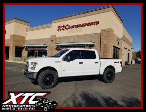 "Huston brought in his 2015 Ford Motor Company F150 for a ReadyLift Suspension Inc. 2.5"" leveling kit and a set of 35x11.50R20 Nitto Tire Trail Grapplers wrapped around a set of Fuel Offroad 20"" D560 Black Vapor wheels."