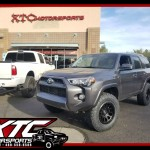 Caroline brought us her 2016 Toyota USA 4Runner for a set of Bilstein Shock Absorbers Adjustable front 5100 series struts and 5100 series rear shocks, a set of 285/70R17 Nitto Tire Ridge Grapplers on a set of 17x8.5 Fuel Offroad Black Vector wheels.