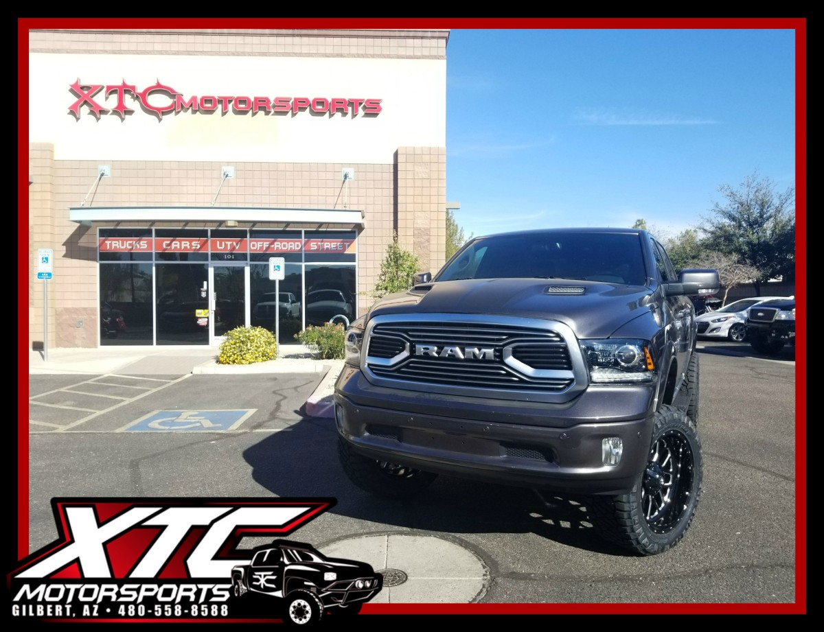 "Mike brought in his 2018 Ram 1500 for a Superlift 6"" suspension lift w/ Bilstein 5100 Series shocks, a set of 35x12.50R22 Nitto Ridge Grappler tires wrapped around a set of Fuel Offroad D588 Gloss Black & Milled Titan wheels."