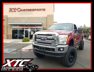 Rod brought in his 2015 Ford F350 Super Duty for a Fabtech 8″ Radius Arm System w/2.25 Dirt Logic Shocks, a set of N-FAB Nerf Steps, a set of 20x10 KMC Matte Black Rockstar 3 wheels wrapped with a set of 37x13.50R20 Toyo Open Country M/T tires.