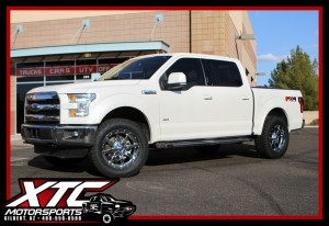 "We installed a Daystar Products International 2"" leveling kit, a set of 295/60R20 Toyo Tires Open Country ATII's wrapped around a set of 20x9 Fuel Offroad Chrome Maverick wheels on Lou's 2015 Ford Motor Company F150."