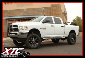 "Jay brought in his 2016 Ram Trucks 2500 for a BDS Suspension 4"" lift with Fox shocks, a set of KMC Wheels XD Series XD779 Black and Machined Badlands wrapped with a set of 37x12.50R20 Nitto Tire Ridge Grapplers and a Superchips FlashCal."